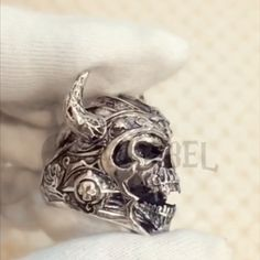 Tibet Men/'s Black Death Skull Ethnic Biker Cool Biker Bracelet