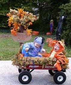idea for Halloween costume & decorating wagon theme