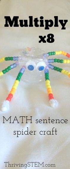 What a fun way to practice multiplication by 8! Great if you're reading Charlotte's Web. Check out all the 28 Days of STEAM Projects for Kids for fun science, technology, engineering, art, and math activities!