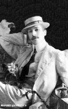 Henry Cyril Paget, 5th Marquess of Anglesey...he lived a life so flamboyant that he burned through all of his estate's considerable wealth and his family has tried to remove all traces of his wasteful life. Fascinating.