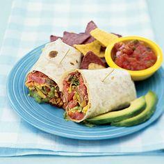 Chili-Rubbed Flank Steak Wraps #recipe (great lunch idea for leftover steak!)