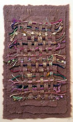 Paper Tapestry by Nancy Curry Paper Weaving, Weaving Textiles, Weaving Art, Tapestry Weaving, Fabric Art, Fabric Crafts, Paper Crafts, Creative Textiles, Fabric Journals