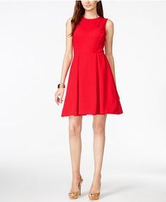 INC International Concepts Sleeveless Fit & Flare Dress, Only at Macy's - Dresses - Women - Macy's