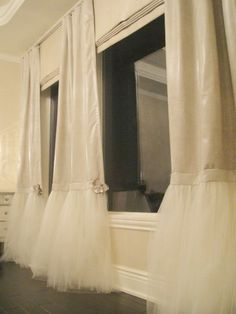 Tutu curtains. How cute would these be in a girls room!?!