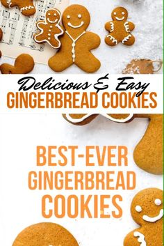 This Gingerbread Cookie recipe is foolproof and SO easy to make. Use this recipe for making gingerbread men, tree decorations or a cookie wreath. Easy Gingerbread Cookies, Fun Cookies, Holiday Cookies, Holiday Baking, Christmas Desserts, Gingerbread Men Recipe Without Molasses, Icing For Gingerbread Men, Christmas Ginger Cookies, Gingerbread Man Recipe For Kids
