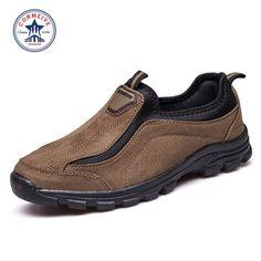 $50.00 (Buy here: https://alitems.com/g/1e8d114494ebda23ff8b16525dc3e8/?i=5&ulp=https%3A%2F%2Fwww.aliexpress.com%2Fitem%2FFashion-Men-Hiking-Shoes-Slip-on-Leather-Outdoor-Shoes-2016-Trek-Suede-Sport-Shoes-Men-Climbing%2F32595241116.html ) Special Offer Medium(b,m) Hiking Shoes Slip-on Leather Outdoor 2016 Trek Suede Sport Men Climbing Outventure Sapatos Masculino for just $50.00