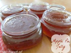Apple Pie Jelly (so easy, it starts off with store bought apple juice!)   Great for holiday gifts and amazing apple pie flavor!