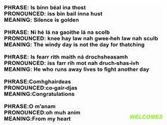 Gaelic Irish Gaelic Language, Gaelic Words, Scottish Gaelic, Gaelic Irish, Moving To Ireland, Sayings And Phrases, Irish Pride, Irish Blessing, Ireland