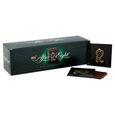 After Eight Give the gift of chocolate this year with these tasty After Eights, choc-full of the classic mint chocolate thin - B&M Stores. Cheap Chocolate, Mint Chocolate, After Eight Chocolate, After Eight Mints, British Sweets, Fun Sleepover Ideas, English Christmas, Selection Boxes, Retro Sweets