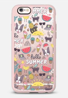 Casetify iPhone 7 Case and Other iPhone Covers - Hello Summer! Funny yummy fruits, smoothies, coffee, French bulldog, cute cat…  by Anna Alekseeva kostolom3000 | #Casetify