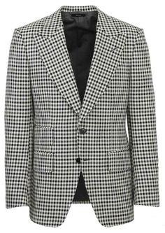 Tom Ford Blazer In White/black Ford Blazer, Tom Ford Jacket, New Mens Suits, Blazers For Men, Black And White Colour, Men Looks, Retro Fashion, Toms, Menswear