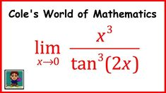 Limit of x^3/(tan^3(2x)) ❖ Calculus 1 ❖ Trig Limits