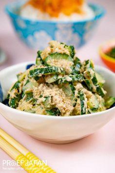 Recept: Japanse tonijnsalade met komkommer | Proef Japan Fish Dishes, Salmon Burgers, Bento, Risotto, Sushi, Ethnic Recipes, Food, Drinks, Drinking