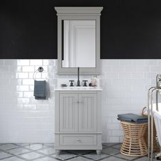 Crafted with sturdy wood, the coastal cottage-inspired Jazmyne bathroom vanity includes a composite granite countertop and backsplash, ceramic oval sink and storage drawer. It's perfect for your master bathroom, guest bathroom or powder room. Guest Bathrooms, Bathroom Renos, Master Bathroom, White Bathrooms, Bathroom Ideas, 24 Inch Bathroom Vanity, Vanity Sink, Bathroom Vanities, Carrara Marble Countertop