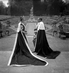 """The 15th Earl and Countess of Pembroke dressed for the coronation of George VI"", 1937 Cecil Beaton"