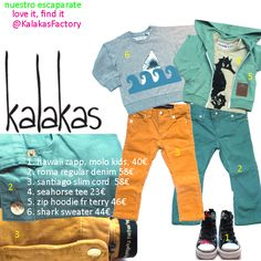 Escaparate kalakas  looks primaverales para niños y niñas  mini rodini  organic cottons  love it, find it...  @kalakas.es Rock Style, Zip Hoodie, Parachute Pants, Slim, Hoodies, Tees, Mini, Sweaters, Fashion