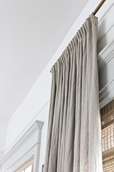 country curtains Pinch Pleat Curtains, Ikea Curtains, Pleated Curtains, Home Curtains, Curtains For Bedroom Window, Ikea Curtain Rods, Linen Curtain, Decorative Curtains, Curtain Panels