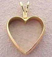 Husbands Wedding Band Turned Into Heart Pendant For Her