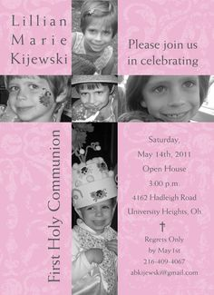 marissa's 1st communion invites???