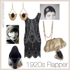 """""""1920s Flapper Costume"""" by bitteroclock on Polyvore - #crochethat #diycostume #halloween"""