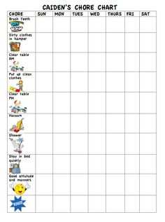This is the chore chart I came up with for my 5 and 3 year old. Let's hope it works!