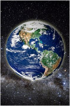 Beautiful Picture Of Earth From Space Poster Clear Scientific Educational 24x36