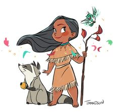 Pocahontas & Meeko // By: Steve Thompson