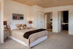 Papamoa Show Home by Lockwood,New Zealand Plan Design, Open Plan, Beach House, Bedroom, Architecture, House Styles, Furniture, Home Decor, Beach Homes