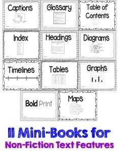 Free Non Fiction Text Features Packet There Scavenger Hunt