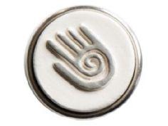Chunk - Hopi Hand    Het symbool 'hopi hand' staat voor creativiteit en genezing. Hopi is een klein Indianenvolk.