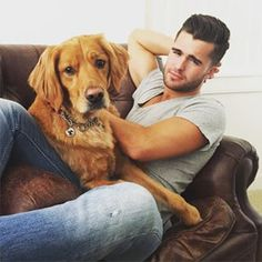 Like the time he gave us this hunky look and 100 mega-watt smile alongside his cute dog. | 17 Times Spencer Boldman Was The Most Perfect Man On Instagram