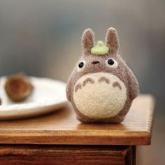 Zanzas DIY handgefertigte Nadel Filzen Craft Totoro Wolle Filz