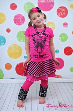 Quinn's Knit Skirted Leggings | YouCanMakeThis.com