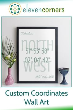 Personalised coordinates print for any location in the world. Personalised it with you own messages too. Unique personalised gift idea. #elevencorners #coordinates #wallart #giftideas #housewarming #newhome Personalised Prints, Personalized Wall Art, Personalized Gifts, Family Wall Art, Grandparent Gifts, New Home Gifts, Contemporary Style, Anniversary Gifts, House Warming