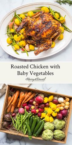 This roasted chicken with seared vegetables is the perfect meal for spring entertaining. Honey Balsamic Glaze, Vegetables For Babies, Salted Caramel Cake, Easy Entertaining, Feeding A Crowd, Roasting Pan, Roasted Chicken, Family Meals, Chicken Recipes