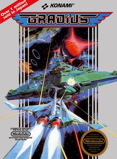 """Okay though so like the-ult: """" You have the original Gradius for arcade (this is the NES boxart but w/e). Then you have Gradius 2 on MSX Then there's Gradius II: Gofer's Ambition for arcade, which is. Video Vintage, Vintage Video Games, Classic Video Games, Retro Video Games, Vintage Games, Video Game Art, Retro Games, Nes Games, Games Box"""