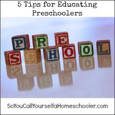 5 Tips for Educating Preschoolers   So You Call Yourself a Homeschooler?