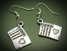 fuNky earrings ♤ deCk of CaRds ♧ Szeya designs via Etsy.com