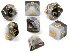Inspire your imagination with Arcane Dice (Black)! This unique RPG dice set is crafted from...