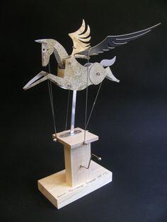 Painted Aluminium Pegasus Automata. £45.00, via Etsy.