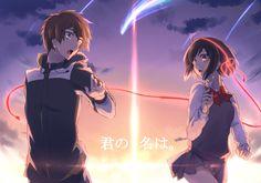 Kimi no Na wa (Your Name) Kimi No Na Wa, Watch Your Name, Another Anime, Love Illustration, Anime Life, Cute Anime Couples, Anime Scenery, Anime Style, Shoujo