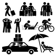 Family Couple Tourist Travel Vacation Trip Holiday Honeymoon Icon Symbol Sign Pictogram photo