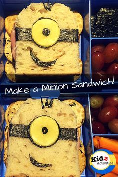 How to Make a Minion Sandwich - Lunch with a difference