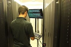 Some regular work and maintenance at the Datacenter. The presence of onsite staff at our facilities means that we are ready to go out with crash cart can hook them up to your server and begin troubleshooting any problems that you may be having.  #hosting #webhost #datacenter #webhosting #geeks #nerds #linux by host4geeks