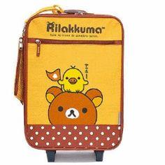 rilakkuma carry-on luggage. so cute