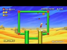 New Super Mario Bros. U - (Co-op) Layer-Cake Desert-1 | Stone Eye Zone Star Coins