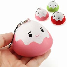 Automobiles 4cm Mini Squishy Slow Rising Jumbo Lanyard Squishy Slow Rising Steamed Bread Panda Squeeze Lanyard For Keys Groot Phone Strap Collectibles