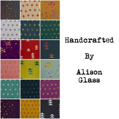 Handcrafted Fat Quarter bundle by Alison Glass by StitchSupplyCo on Etsy https://www.etsy.com/listing/235204841/handcrafted-fat-quarter-bundle-by-alison