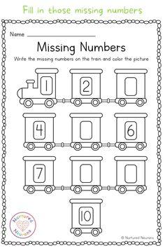 Back To School Worksheets, Free Kindergarten Worksheets, Homeschool Kindergarten, Preschool Learning Activities, Free Printable Kindergarten Worksheets, Missing Number Worksheets, Pre K Worksheets, Number Formation, Numbers Preschool