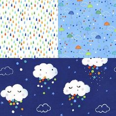 I've been waiting for a rainy day to share this fun Pitter Patter collection by @michaelmillerfabrics, but the sun is still shining! Here's to the #MondayBlues!  #rainy #rainyday #monday #mondays #rain #raining  #quilt #quilts #quilting #sew #sewing #craft #crafting #diy #fabric #crafts #patchwork #quilter #stitch #cotton #decor #homedecor #apparel #fashion #creativity #creative